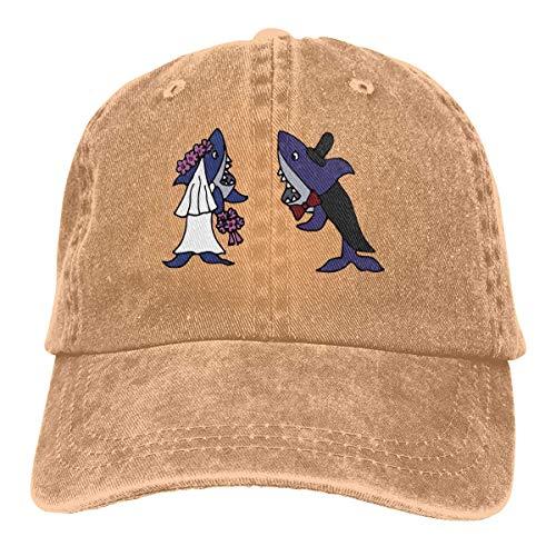 Voxpkrs Trucker Cap Shark Bride and Groom Durable Baseball Cap Hats Adjustable Dad Hat Black asdfghjklzxc22558