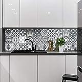 Carreaux de ciment adhésif mural - azulejos - 15 x 15 cm - 15 pièces