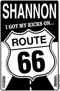 ROUTE 66 Personalized Sign SHANNON