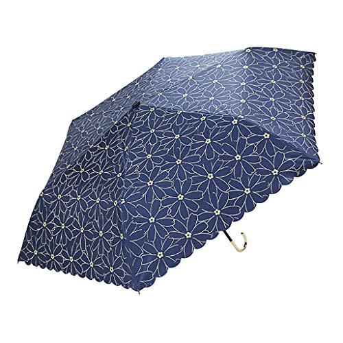 Sun umbrella Kleine frische Sonnenschirm ultraleichte tragbare Vinyl Sonnenschutz Anti-Ultraviolett Sonnenschutz Jalousien faltbar