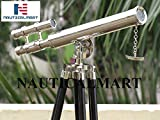 """NauticalMart Chrome Griffith Astro Floor Standing Telescope 18"""" with Tripod Stand with 45"""""""