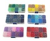 Perline di perle di vetro ROCCAILLES similperle penna similperle 1500 G 2 3 4 6 mm postazione Q66