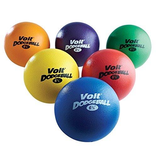 Voit Tuff Dodgeballs (Prism Pack), 6 1/4-Inch