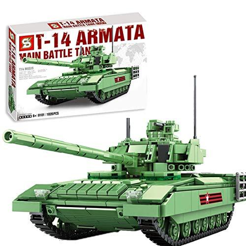 CYGG Bloques de construcción de Tanques Militares, 1020pcs Modelo Militar Modelo de Tanque de Batalla Pesada Juguete de Tanque de Batalla para niños Adultos compatibles con Lego