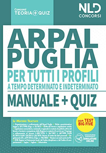 Concorso ARPAL Puglia: Manuale completo + Quiz per tutti i profili