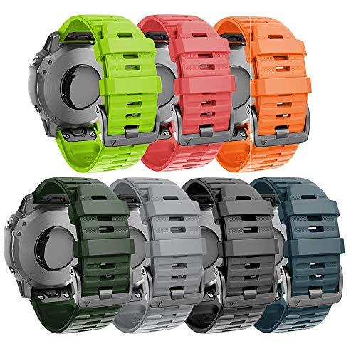 ANBEST Compatible con la Correa Fenix 5X, Correa de Repuesto de liberación rápida de Silicona Suave de 26mm para Fenix 6X/Fenix 6X Pro/Fenix 3HR/Fenix 3 Smart Watch