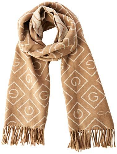 GANT Damen D1. G Wool Scarf Schal, Beige (Warm Khaki 213), One Size (Herstellergröße: Oversize)