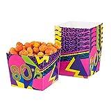 Boland 44609 - Popcornschüssel 80´s, 6 Stück, Fassungsvermögen 40 cl, umweltfreundlich,...