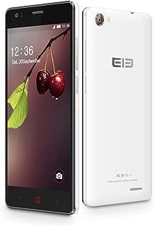 Quad-Core 3G 対応SIMフリー 2スロット搭載スマホ・500万画素 カメラ・4.5インチIPS液晶 ホワイトelephone G1-WT Android4.4.2 Ktkat搭載Bluetooth・GPS・テザリング搭載●完全日本仕様