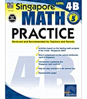 Singapore Math – Level 4B Math Practice Workbook for 5th Grade, Paperback, Ages 10–11 with Answer Key (Singapore Math Practice)