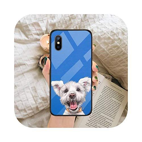 Terrier Dog Funda de teléfono de vidrio templado para iPhone 6 6S 7 8 Plus X XS XR 11 12 mini PRO MAX-a11-iphone12promax