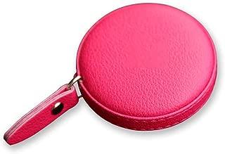 YC electronics Cinta métrica Medida de Cintura portátil Personalizada Hecha a Mano Pequeña Cinta métrica Cinta Salud Pie Cuero Desgaste Dispositivos de Medida (Color : Pink)