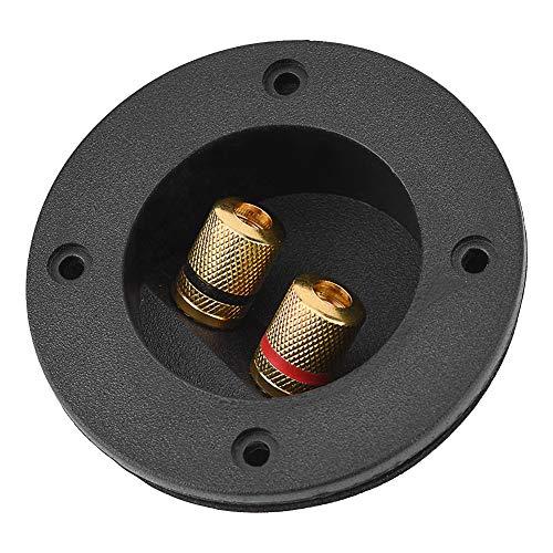 Topiky kabelaansluitkast voor luidsprekerklemmen, 48 mm koperen luidspreker-verbindingsplaten, schroefklemmen, banaanbus en stekker voor subwoofer DIY home luidsprekersets autoradio-luidsprekers