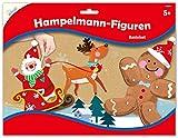 Mammut Spiel & Geschenk 162010 Bastelset Hampelmann-Figuren Weihnachten 2, Komplettset mit 3 Bögen Einzelteilen, diversem Zubehör und 1 Anleitung, Kreativset für Kinder ab 5 Jahre