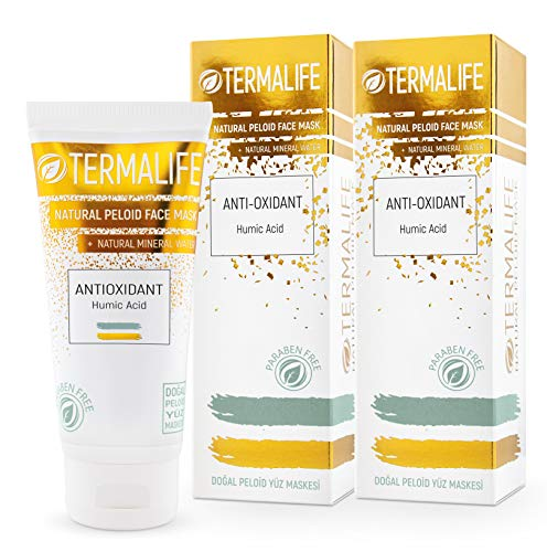 Termalife Peloid Face Mask | 5.1 oz Natural Facial Mask For Deep Pore Cleansing | Treatment of Acne, Best Facial Pore Minimizer, Reduce Wrinkles, and Nourishing Face (Detox Effect-2 pack)