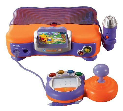 Vtech 80-075204 - V.Smile Lernkonsole orange inkl. Lernspiel Winnie Puuh