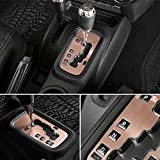 E-cowlboy Trim Gear Frame Cover Gear Shift Box Cover for Jeep Wrangler 2012~2018 Aluminum Inner Accessories Custom Fit - All Weather Protection (Golden)