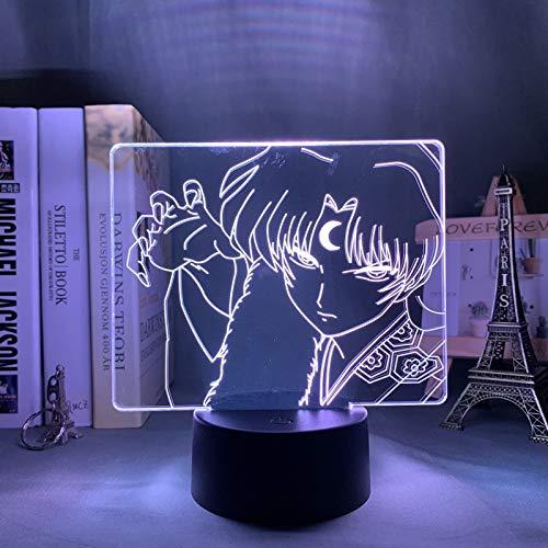 Inuyasha Sesshomaru Led Nachtlicht, Schlafzimmer Dekor Geschenk Nachtlicht Anime 3D Lampe Sesshomaru Inuyasha