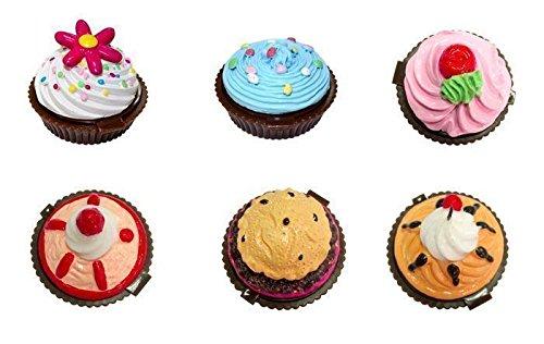DISOK - Bálsamos Labiales Pastelito (PRECIO UNITARIO) - Detalles Originales Invitados, Brillos de Labios, Lipgloss, Bálsamos Labiales Baratos Bodas Cupcake, Brillos de labios con forma de helados