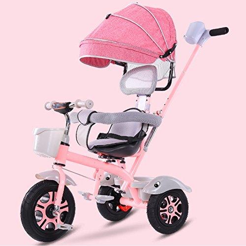 &Carrito de bebé Bicicleta de triciclo para niños 3-6 años de edad silla de paseo cochecito de bebé ligero (Color : 6#)