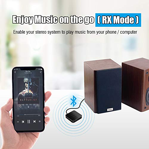 N/K Trasmettitore e ricevitore Bluetooth 5.0 Adattatore audio Ottico digitale 2 in 1 RCA 3.5mm Compatibile AUX Funziona per TV Sistema stereo per auto a bassa latenza