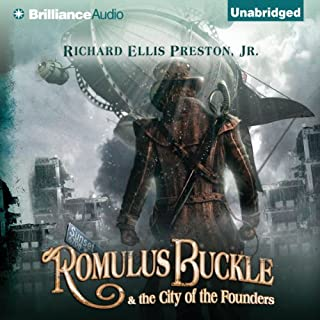 Romulus Buckle & the City of the Founders audiobook cover art