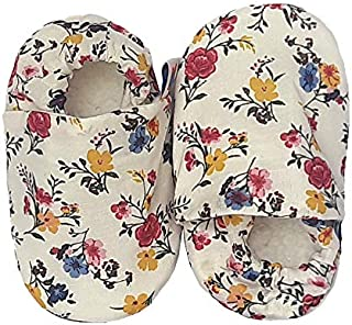 SKIPS Premium & Comfortable Baby Booties Shoes for Baby Girl & Boy Unisex - Non Skid Sole- Multicolor Flower Print