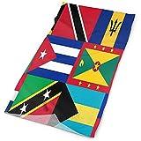 RP Amazing 12-In 1 Sweatbands,Karibik Und Westindien Nationalflagge Polyester Quick Dry Headwear Zum Klettern Camping Wandern 25x50cm