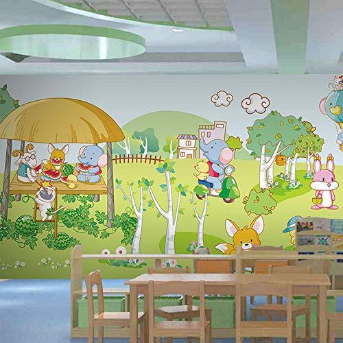 ARXBH Tapete Selbstklebende Wandmalerei (B) 400X (H) 280Cm Cartoon Wald Kinderpark Schwimmbad 3D Tapete Kinderzimmer Wohnzimmer Schlafzimmer Restaurant Tv Wand Hintergrund 3D Wandbild Wandkunst