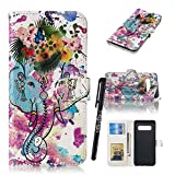 Samsung S10 Plus Bookstyle Case,Tifightgo Colorful Polished Embossed FILP PU Leather Cover Silicone Shell Wallet Case for Samsung Galaxy S10 Plus with Card Slots/Stand Function/Magnetic Buckle