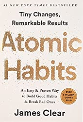 Book cover of Atomic Habits by James Clear