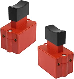 XMHF Power Tool Part DPST Non Lock Trigger Switch Electric Tool Trigger Switch Red Black 2PCS