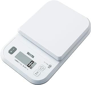 タニタ はかり スケール 料理 カロリー 1kg 1g ホワイト KJ-110S WH ごはんのカロリーがはかれる