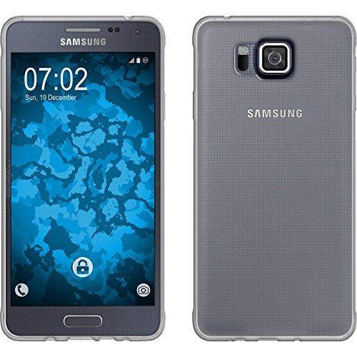 PhoneNatic Custodia Compatibile con Samsung Galaxy Alpha Cover Trasparente Slimcase Galaxy Alpha in Silicone + Pellicola Protettiva