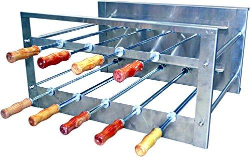 Oca-Brazil Brazilian BBQ Charcoal Grill - 09 Skewers - Rotisserie System - Residential