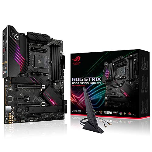 ASUS ROG Strix B550-XE Gaming WiFi, Placa Base Gaming AMD B550 Ryzen AM4 ATX con PCIe 4.0, 16 Fases de Potencia, LAN 2,5 GB, WiFi 6 (802.11ax), 2 x M.2 con disipadores, USB 3.2 Gen 2, RGB Aura Sync