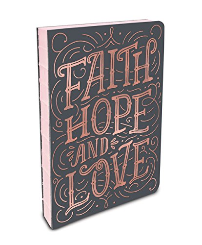 Studio Oh! Hardcover Medium Coptic-Bound Journal, Stacy H. Kim Faith, Hope, Love