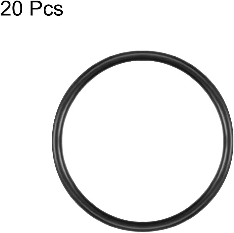 20 Piece Uxcell 29mm Outer Dia 1mm Thick Rubber Oil Filter Seal Gasket O Rings