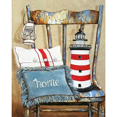 DIY Diamond pintura Kits 16 x 20inches mesa y sillas 5D Crystal diamante bordado Cross stitch Mosaico para la decoración del hogar Regalo de vacaciones