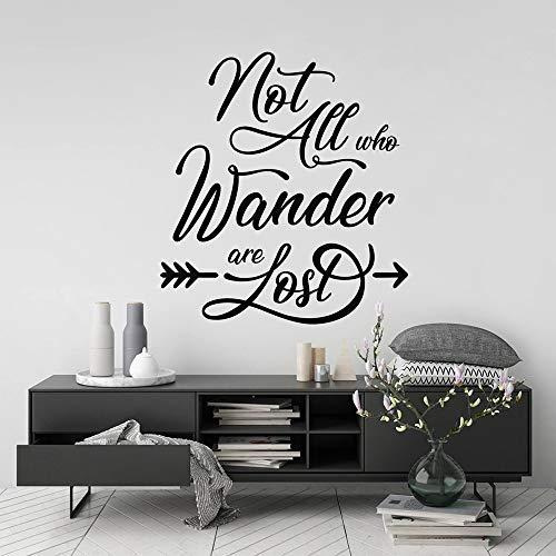ASFGA Schriftsteller, Dichter, Linguist, Nicht jeder, der wandert, ist verloren, Wandaufkleber, Tolkien-Wandaufkleber, Kalligraphie-Schriftzug, Vinyl-Wohnzimmer