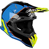 Airoh Terminator Open Vision Slider Cascos, Adultos Unisex, Azure Gloss, L