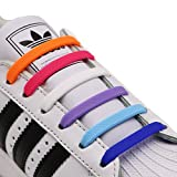 INMAKER No Tie Shoe Laces for Adults and Kids, Elastic Shoelaces for Sneakers, Rubber Silicone Tieless Laces