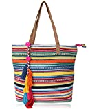 HaaVee® Astrid Multi-Coloured Striped Tote Bag