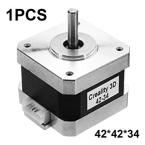 Motore passo-passo 2 fasi 4 filo 0.84A 42 * 42 * 34mm Angolo passo-passo 1.8 ° Coppia statica 22Ncm Motore passo-passo per stampante 3D asse X/Y