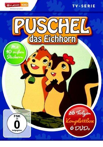 Puschel, das Eichhorn - 26 Folgen, Komplettbox [6 DVDs]