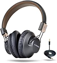 Avantree Audition Pro 40 hr Bluetooth Over Ear Headset with Microphone for Home Office, Conference Call, APTX Low Latency Wireless Headphones for TV Watching, Foldable NFC HiFi Stereo for PC Computer