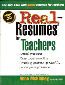 Real-Resumes for Teachers (Real-Resumes Series) by [Anne McKinney]