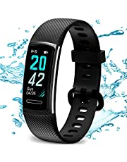 TEMINICE High-End Fitness Trackers HR, Activity Trackers Health Exercise Watch with Heart Rate and Sleep Monitor, Smart Band Calorie Counter, Step Counter, Pedometer Walking for Men Women