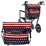 Vive Wheelchair Bag - Wheel Chair Storage Tote Accessory for Carrying Loose Items and Accessories - Travel Messenger Backpack for Men, Women, Handicap, Elderly - Accessible Pouch Pockets (Americana)