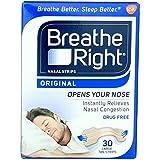 Breathe Right Nasal Strips Original Tan Large - 30 ct, Pack of 6